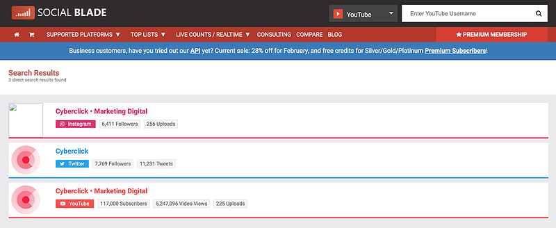 The Top 25 Tools for the Best Competitor Analysis: Social Blade