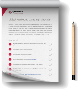 The must-have CHECKLIST for launching your Digital Campaigns
