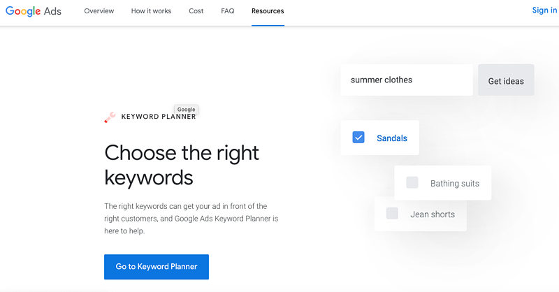 The Top 25 Tools for the Best Competitor Analysis: Google Keyword Planner