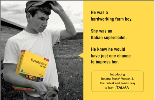 Successful marketing strategy: Rosetta Stone