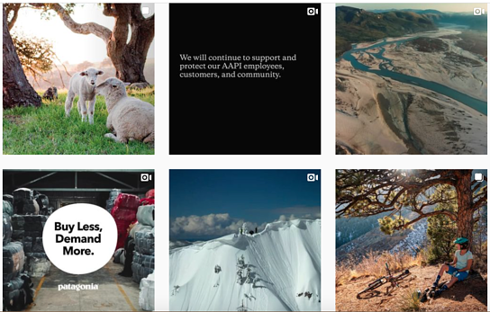 Best brands on Instagram: Patagonia