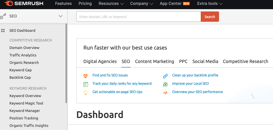 The Top 25 Tools for the Best Competitor Analysis: Semrush
