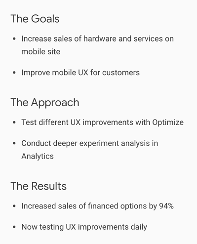 What is Google Optimize? Image via google
