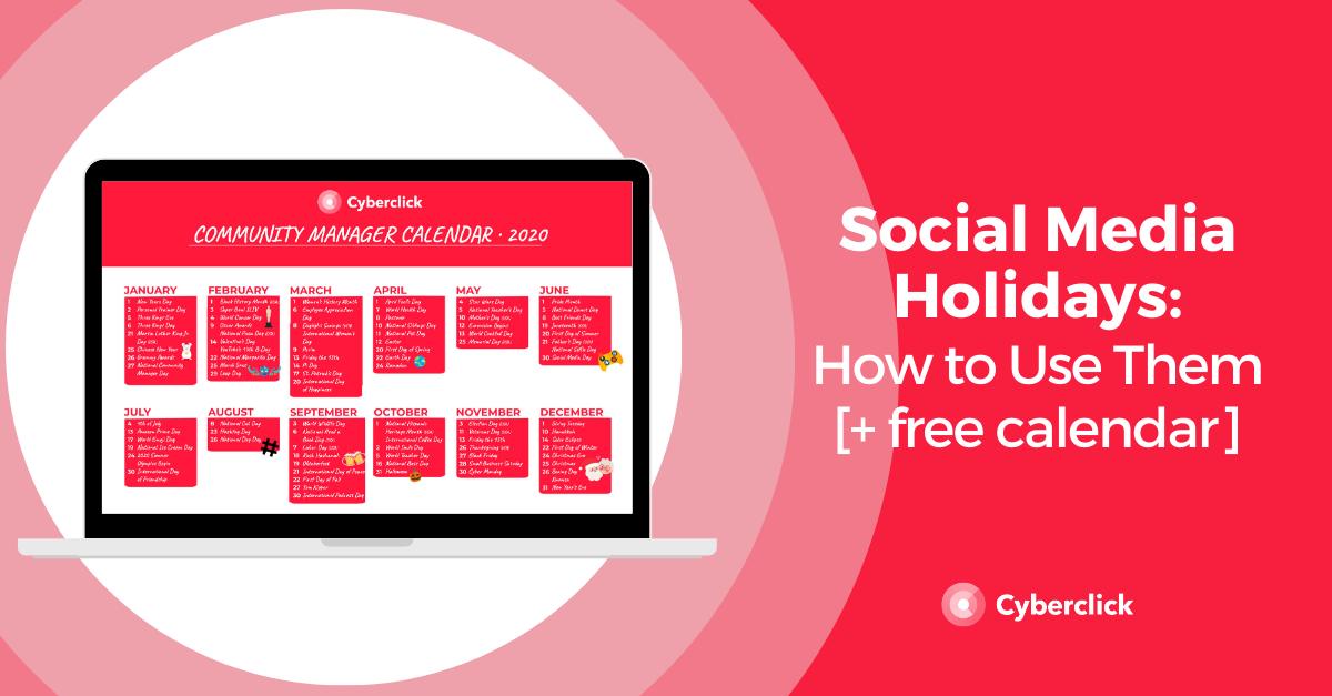 How to Use Social Media Holidays [free calendar]