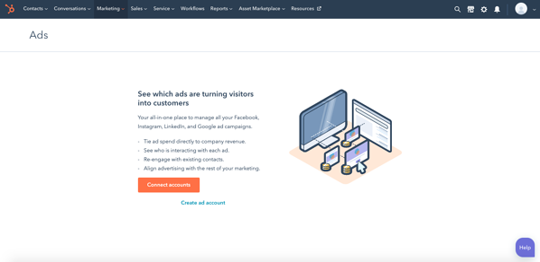 HubSpot Marketing Hub: Ads