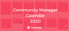 2020 Community Manager Social Media Calendar