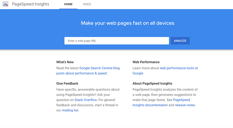 The Top 25 Tools for the Best Competitor Analysis:page speed insights
